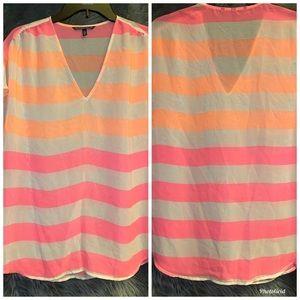 Victoria's Secret Sheer Striped Blouse
